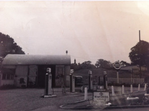 The original D A Roberts Garage and Filling Station at Grindley Brook, Whitchurch